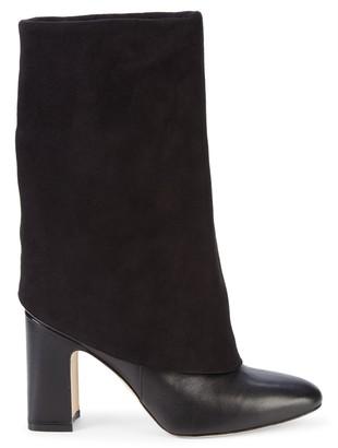 Stuart Weitzman Lucinda Suede & Leather Block-Heel Boots