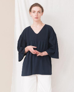 Beaumont Organic Navy Camila Top - XS / Navy - Blue