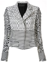 Haider Ackermann patterned biker jacket - women - Cotton/Linen/Flax/Acrylic/Wool - 38