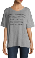 Wildfox Couture Katie's Day Off List Cotton Tee