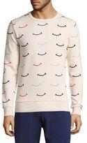 Commune De Paris Joie Smile-Print Cotton Sweatshirt