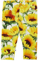Molo Stephanie Sunflower Jersey Stretch Leggings, Size 6-24 Months