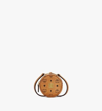 MCM Tambourine Charm with Crossbody Strap in Visetos
