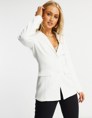 In The Style tailored blazer in white