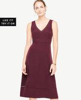 Ann Taylor Lace Trim Midi Flare Dress