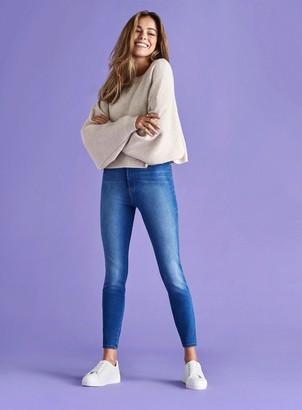 Miss Selfridge STEFFI Mid Blue Super Soft Skinny Jeggings