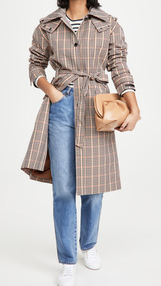Scotch & Soda Checked Trench Coat