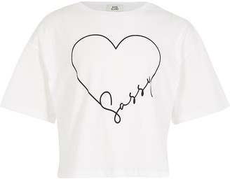 River Island Girls white sassy t-shirt