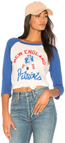 Junk Food Clothing Patriots Raglan in Blue. - size L (also in M,S,XS)