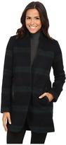 MICHAEL Michael Kors Plaid Menswear Wool Coat Women's Coat