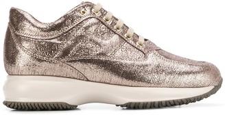 Hogan metallic finish sneakers