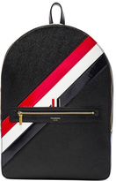 Thom Browne Diagonal Stripe Backpack in Black.