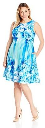 Julia Jordan Women's Plus-Size Printed Dress