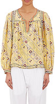 Isabel Marant WOMEN'S GEORGETTE TYRON TUNIC-YELLOW SIZE 36 FR