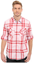 True Grit Beachhouse Plaid Combed Cotton and Vintage Wash Long Sleeve Shirt
