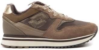 Lotto Leggenda Slice W Brown Suede & Nylon Sneaker