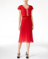 Maison Jules V-Neck Flutter-Sleeve Dress, Only at Macy's
