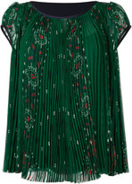 Sacai printed pleated blouse