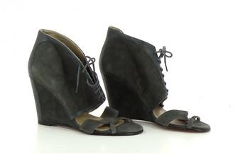 Surface to Air Grey Velvet Heels