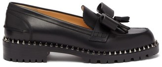 Christian Louboutin Ursul Lug Studded Leather Loafers - Black