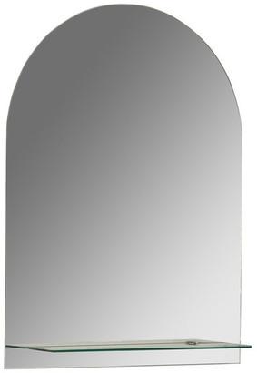 Decor Wonderland Roland Frameless Wall Mirror With Shelf