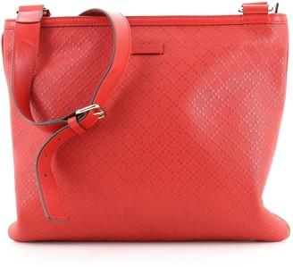 Gucci Zip Top Messenger Bag Diamante Leather Large