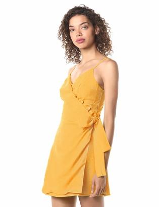 Moon River Women's Sleeveless Side Tie Short Dress