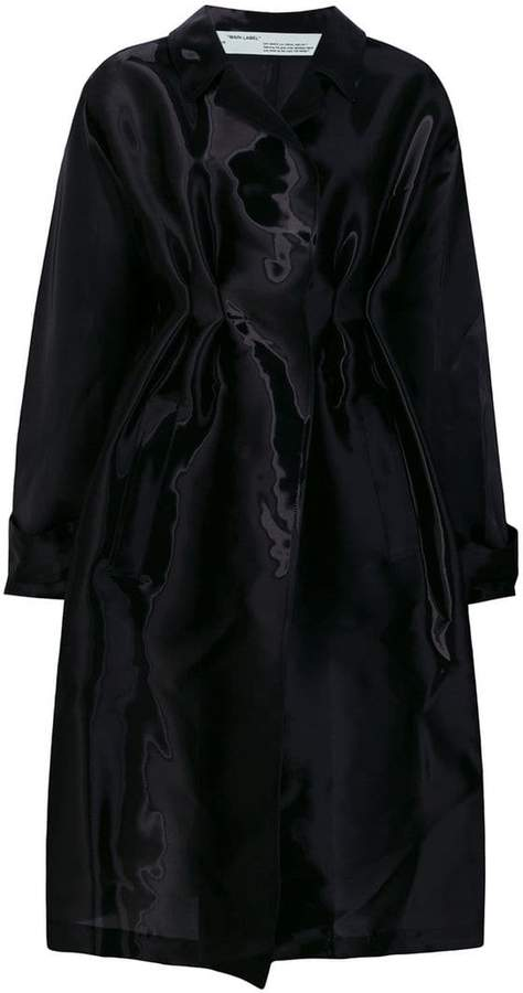 Off-White coated trench coat