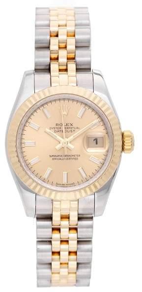 Rolex Datejust 179173 Gold & Steel 26mm Womens Watch