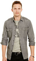 Polo Ralph Lauren Cotton Chambray Military Shirt