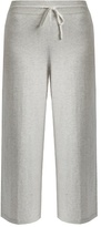 Vince Wide-leg cropped cotton-jersey track pants