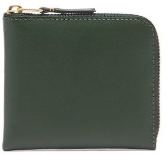 Comme des Garcons Zip-around Grained-leather Wallet - Green
