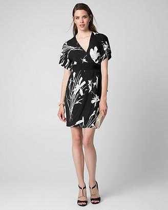 Le Château Floral Print Knit Kimono Dress