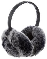 Adrienne Landau Leather Fur-Trimmed Earmuffs w/ Tags