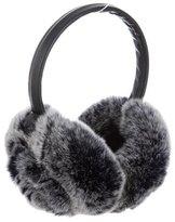 Adrienne Landau Leather Fur-Trimmed Earmuffs w/ Tags