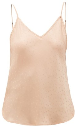 Mes Demoiselles Secret Dot-jacquard Satin Cami Top - Light Pink