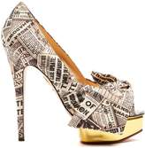 Charlotte Olympia Stephanie crepe de Chine print pumps