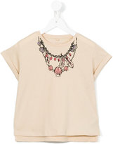 Stella McCartney printed necklace T-shirt - kids - Cotton - 4 yrs