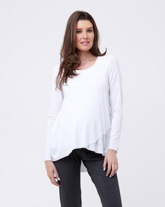 Ripe Maternity Raw Edge Nursing Top