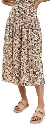 Seed Heritage Paisley Midi Skirt