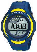 Lorus R2339ex9 Digital Pu Rubber Strap Watch, Blue