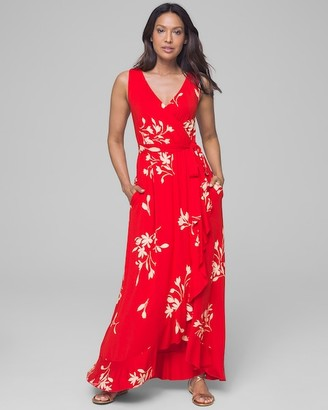 Soma Intimates Soft Support Ruffle Border Maxi Dress