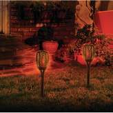 Sharper Image Flickering Flame Light Solar Powered Garden Torch