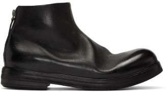 Marsèll Black Zucca Zeppa Tronchetto Boots