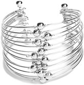 GUESS Women's Lilith Stacked Silver-Tone Cuff Bracelet