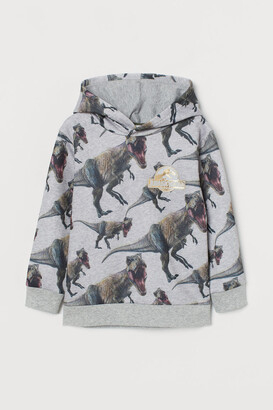 H&M Printed Hoodie - Gray