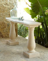 Double Pedestal Outdoor Console Table