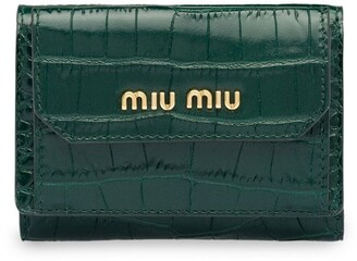 Miu Miu Crocodile-Effect Wallet