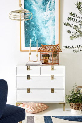 Anthropologie Ingram Four-Drawer Dresser By in White Size ALL