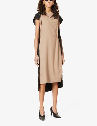 Frenken Flying draped woven midi dress